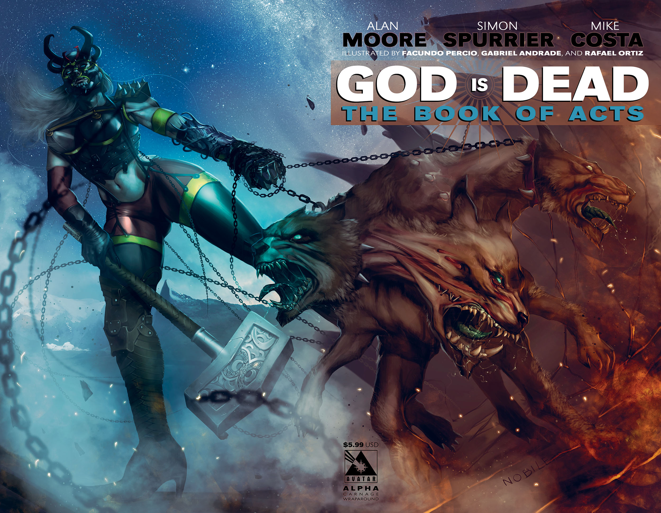Jonathan Hickman´s GOD IS DEAD cover